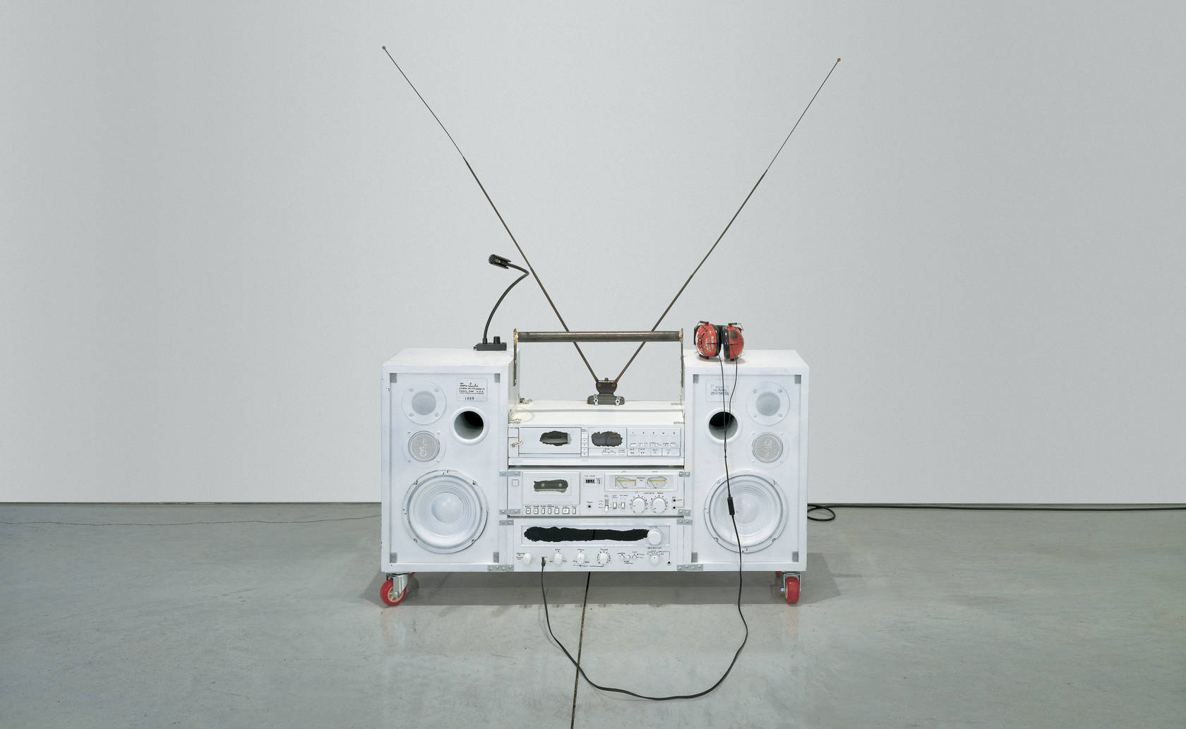 IMAGE: Tom Sachs, Model One, 1999. Mixed media. 32 x 41 x 14 inches. Collection of Shelley Fox Aarons and Philip Aarons, New York. Image courtesy Tom Sachs Studio.