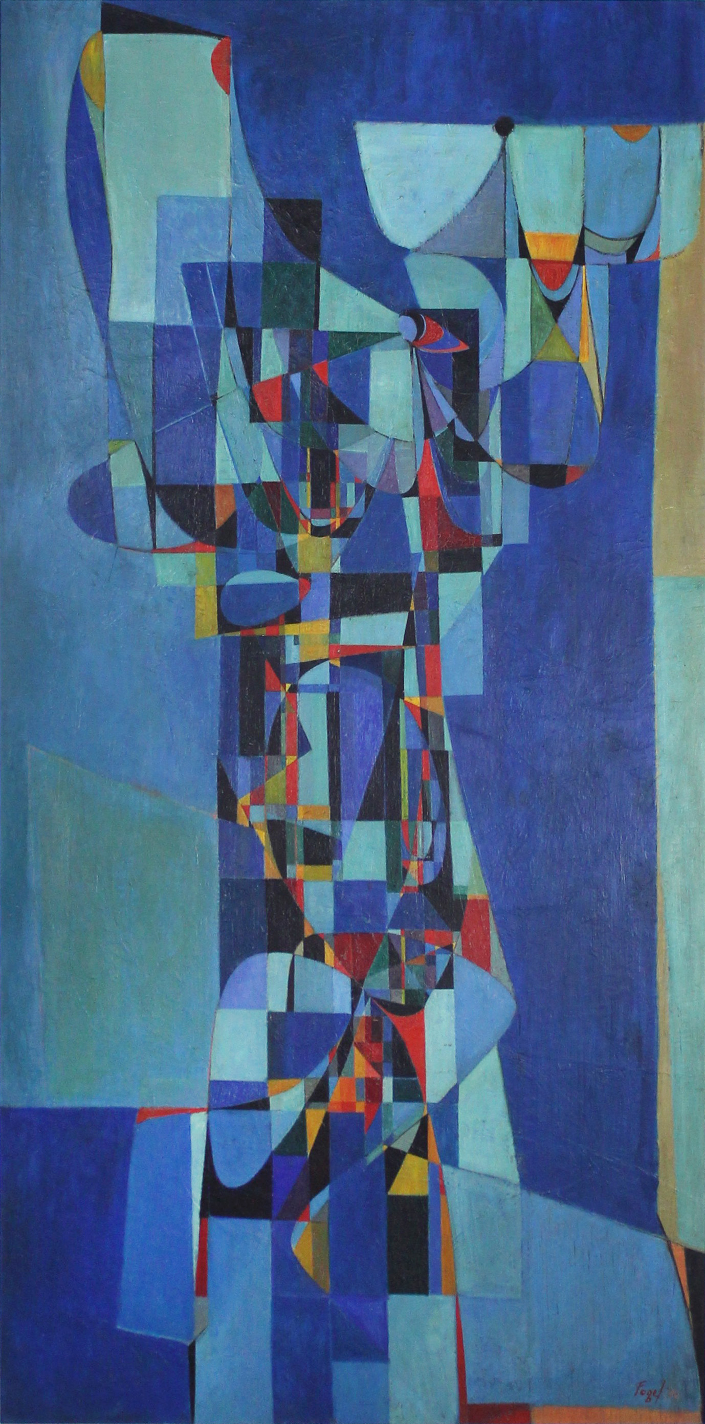 Totemic Form, c. 1950_ Oil on Masonite_ Collection of C. Matthew Taylor