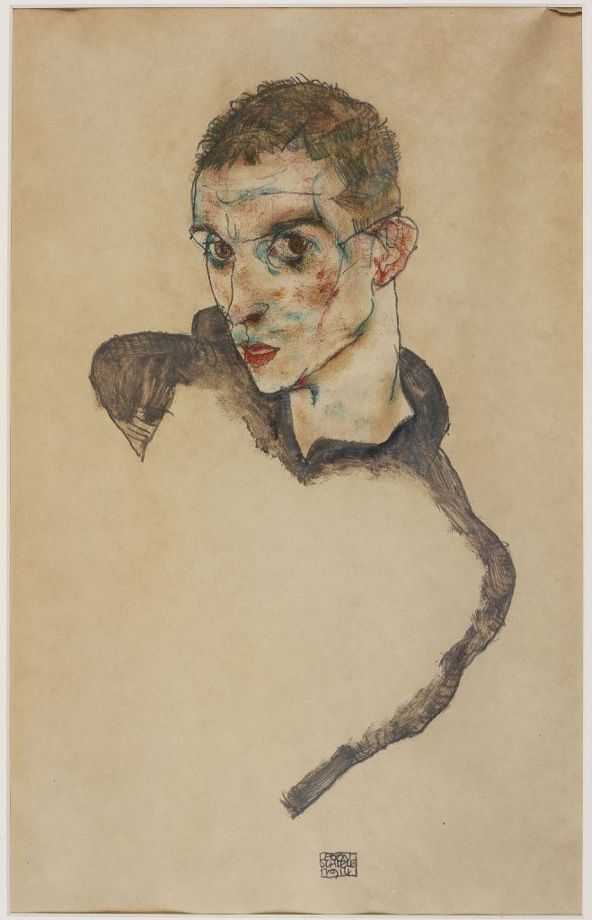 Egon Schiele, Self-Portrait 1914