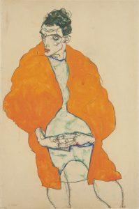 Egon Schiele, Standing Male Figure (Self-Portrait) 1914
